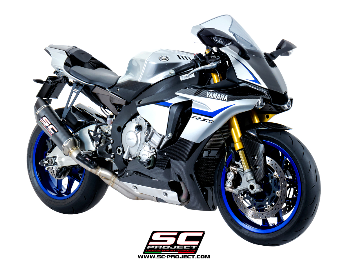 yamaha r1 slipon exhaust sc-project