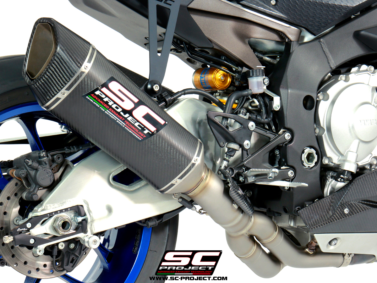 yamaha r1 r1m sc1-r sc-project exhaust slipon