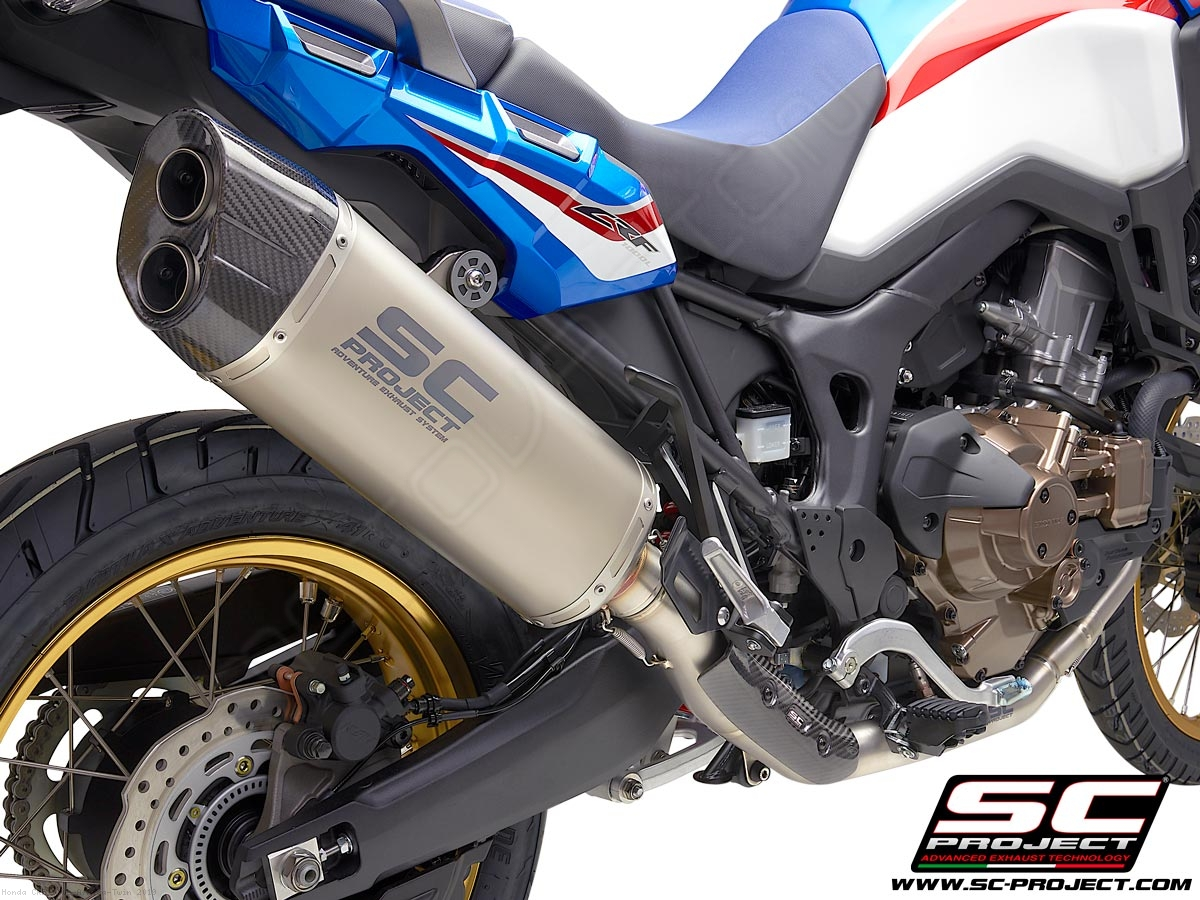 adventure exhaust honda crfl africa twin   tct