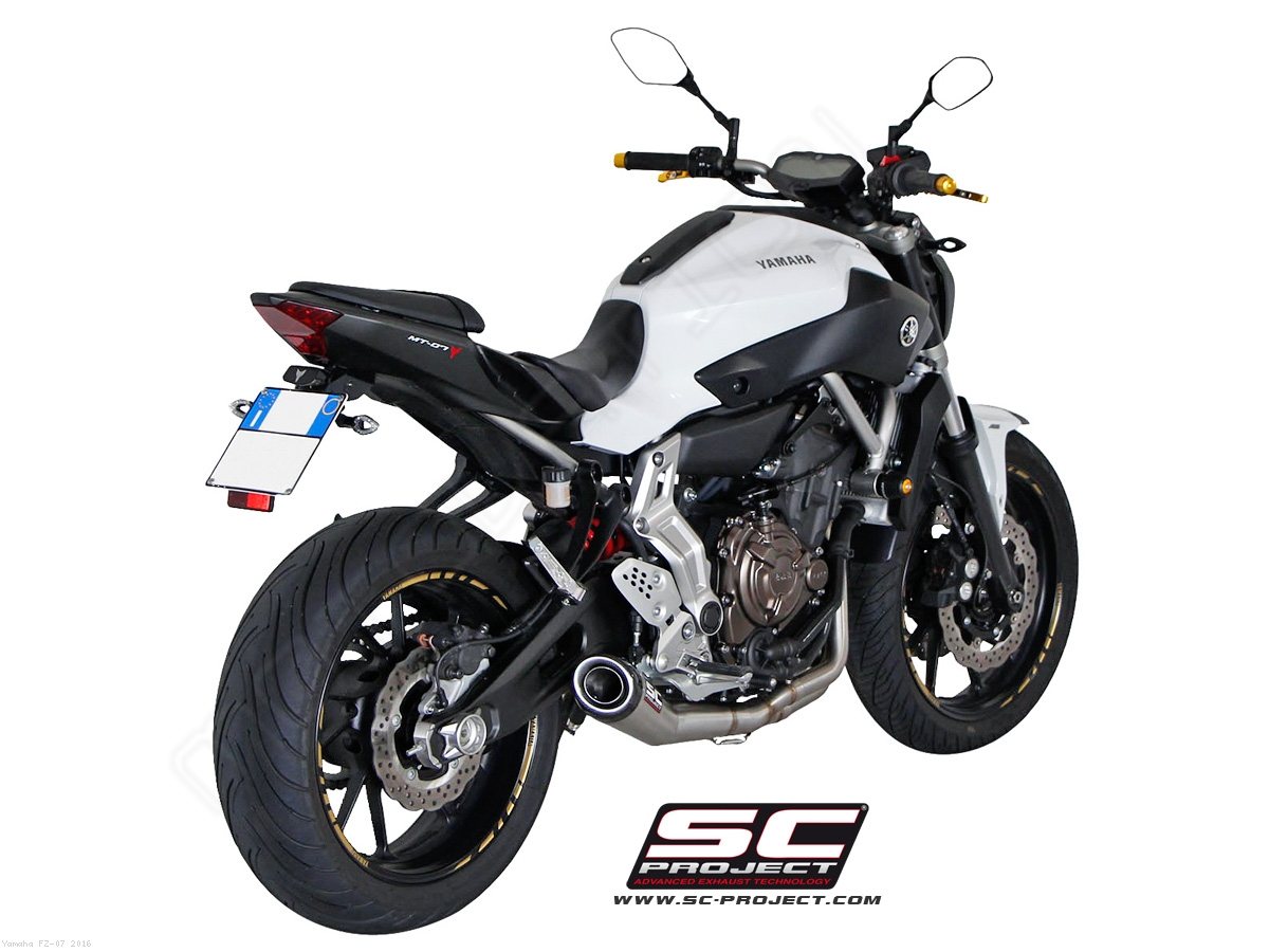 conic full system exhaust by sc project yamaha fz 07. Black Bedroom Furniture Sets. Home Design Ideas