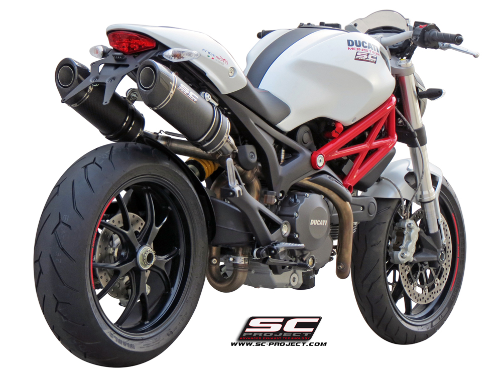 Ducati Monster 696 / 796 / 1100 Oval Exhaust by SC-Project
