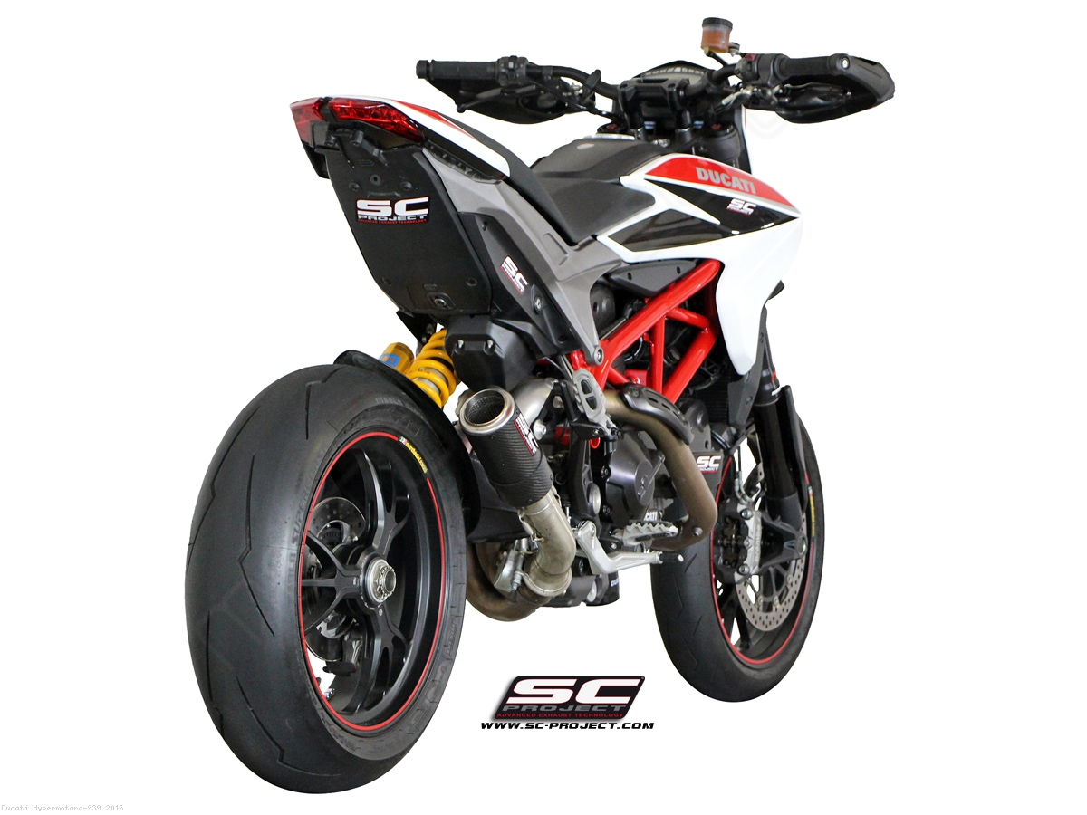 cr t exhaust by sc project ducati hypermotard 939 2016. Black Bedroom Furniture Sets. Home Design Ideas