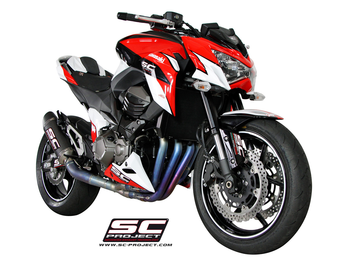 kawasaki z800 oval racing 4 2 1 full system exhaust by sc. Black Bedroom Furniture Sets. Home Design Ideas
