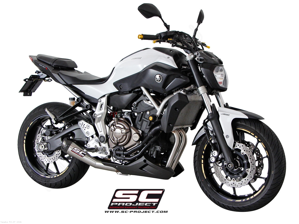 conic full system exhaust by sc project yamaha fz 07 2016 y14 c21a. Black Bedroom Furniture Sets. Home Design Ideas