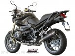 Oval Matte Carbon Exhaust by SC-Project BMW / R1200R / 2009