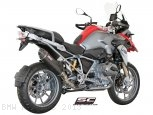 Oval Matte Carbon SC1 Exhaust by SC-Project BMW / R1200GS / 2013