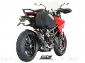 Oval Low Mount Exhaust by SC-Project Ducati / Hypermotard 821 SP / 2015