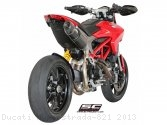 Oval High Mount Exhaust by SC-Project Ducati / Hyperstrada 821 / 2013
