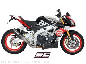 Race Oval Exhaust by SC-Project Aprilia / Tuono V4 1100 Factory / 2016