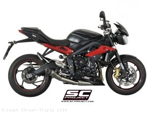 Conic Exhaust by SC-Project Triumph / Street Triple / 2014