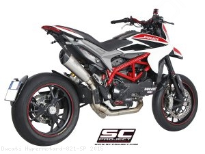 Conic High Mount Full System Exhaust SC-Project Ducati / Hypermotard 821 SP / 2015