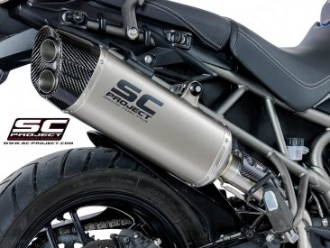 """Adventure"" Exhaust by SC-Project Triumph / Tiger 800 XC / 2017"