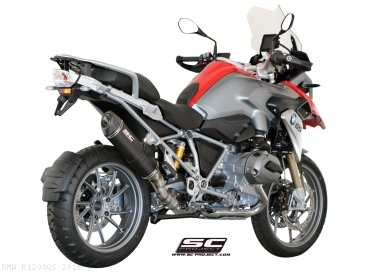 Oval Matte Carbon SC1 Exhaust by SC-Project BMW / R1200GS / 2016