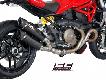 Dual GP-Tech Exhaust by SC-Project Ducati / Monster 1200S / 2016