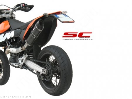 Oval Exhaust by SC-Project KTM / 690 Enduro R / 2008