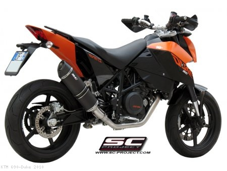 Oval Full System Exhaust by SC-Project KTM / 690 Duke / 2010