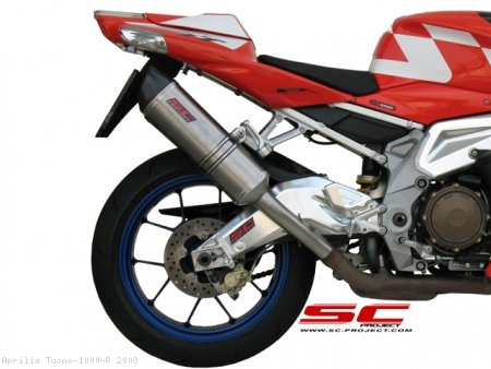 Oval Exhaust by SC-Project Aprilia / Tuono 1000 R / 2008